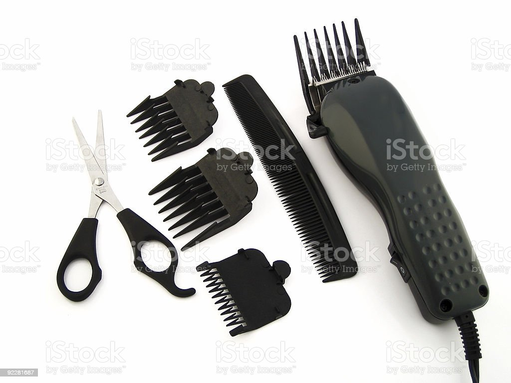 hair grooming parts royalty-free stock photo