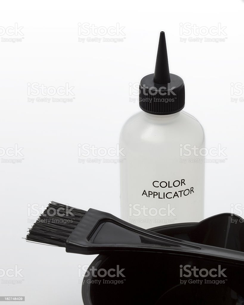 Hair Highlighting and Color Application Tools royalty-free stock photo