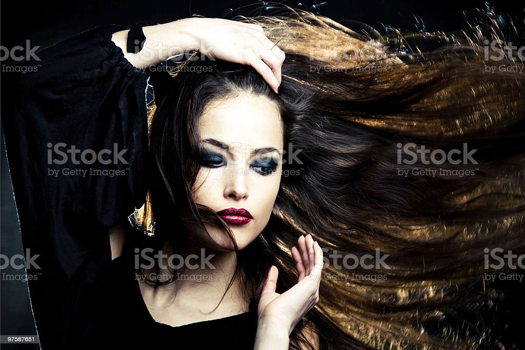 hair in motion royaltyfri bildbanksbilder