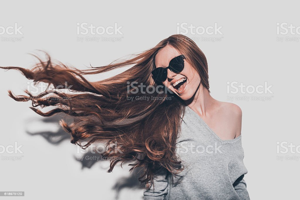 Hair like fire. stock photo