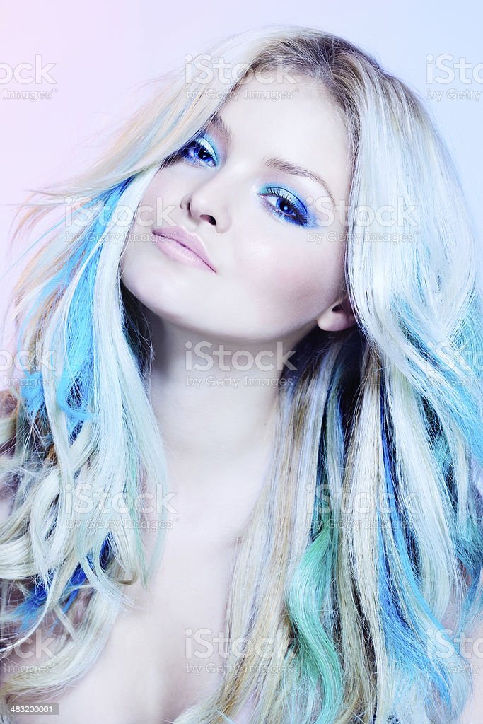 Hair Model royalty-free stock photo