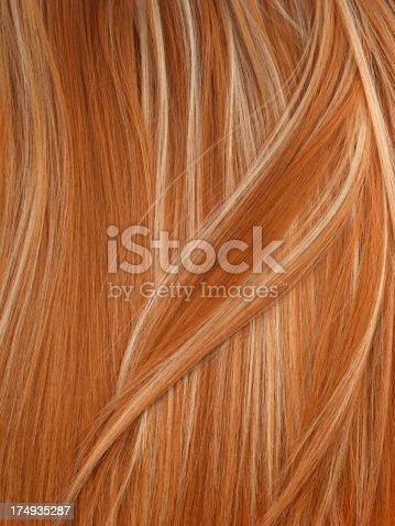 Blond hair background.