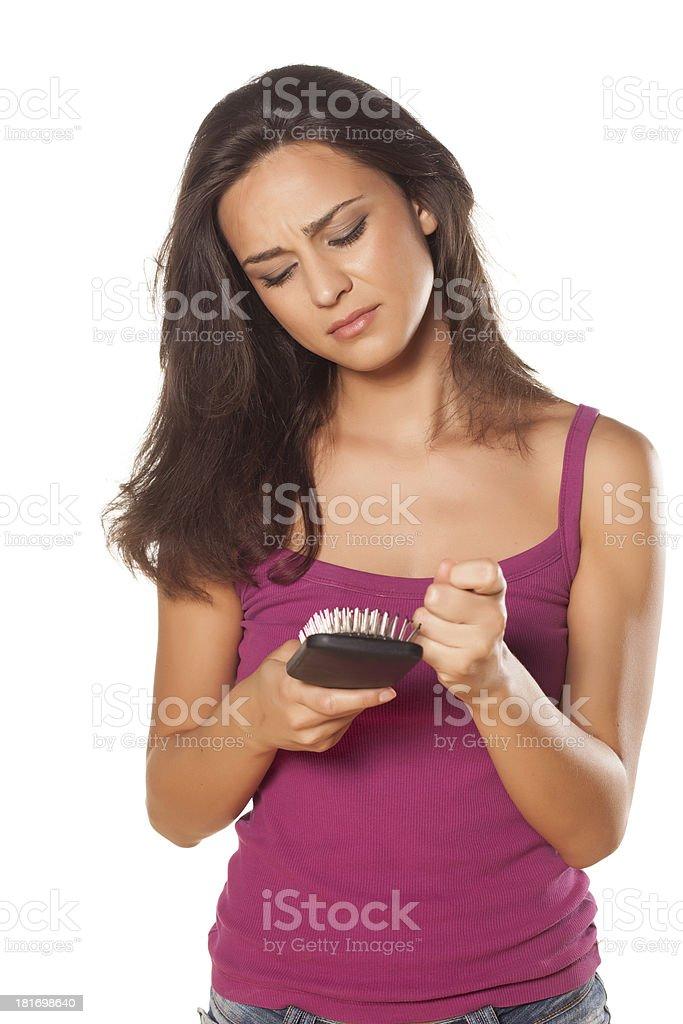 hair problems stock photo