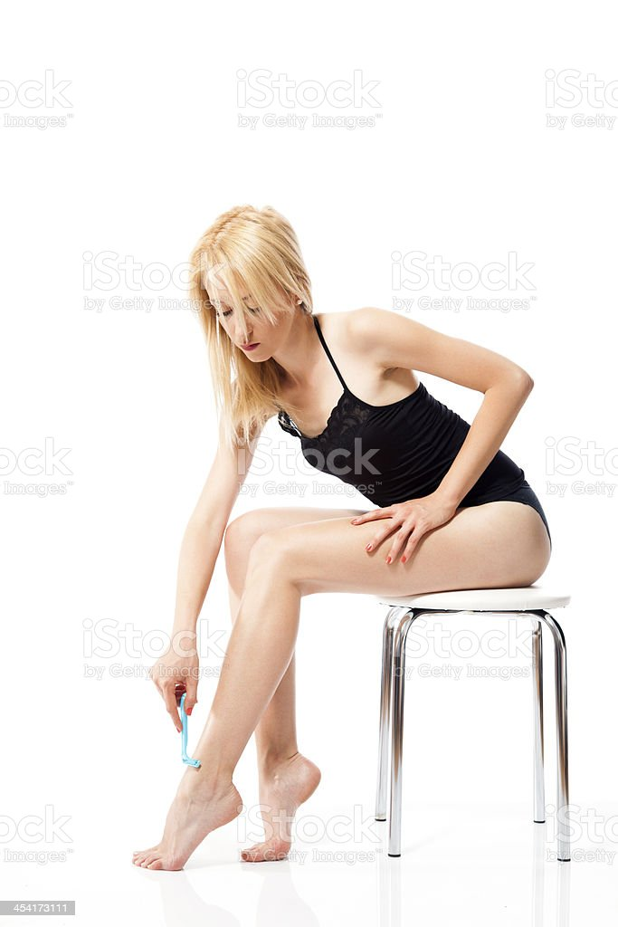Hair removal royalty-free stock photo