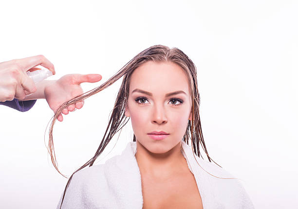 Hair repair treatment Hair repair treatment wet hair stock pictures, royalty-free photos & images