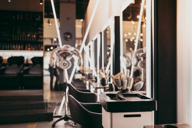 ヘアサロンインテリア - 美容室 ストックフォトと画像