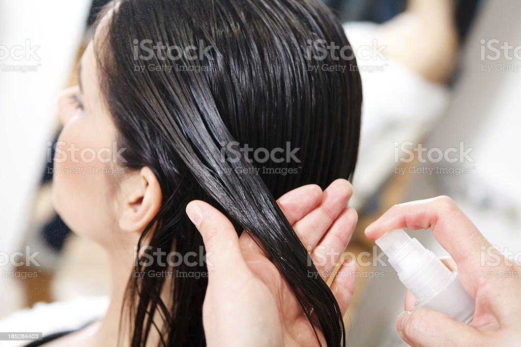 Hair salon treatment stock photo