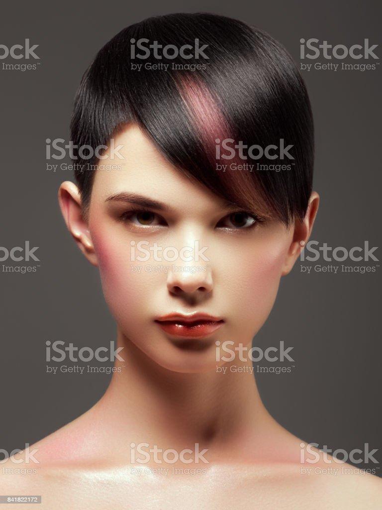 Hair Salon Trendy Hair Style Short Haircut Hairdressing Fashion And