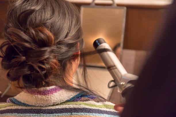 髪セット イメージ ストックフォト