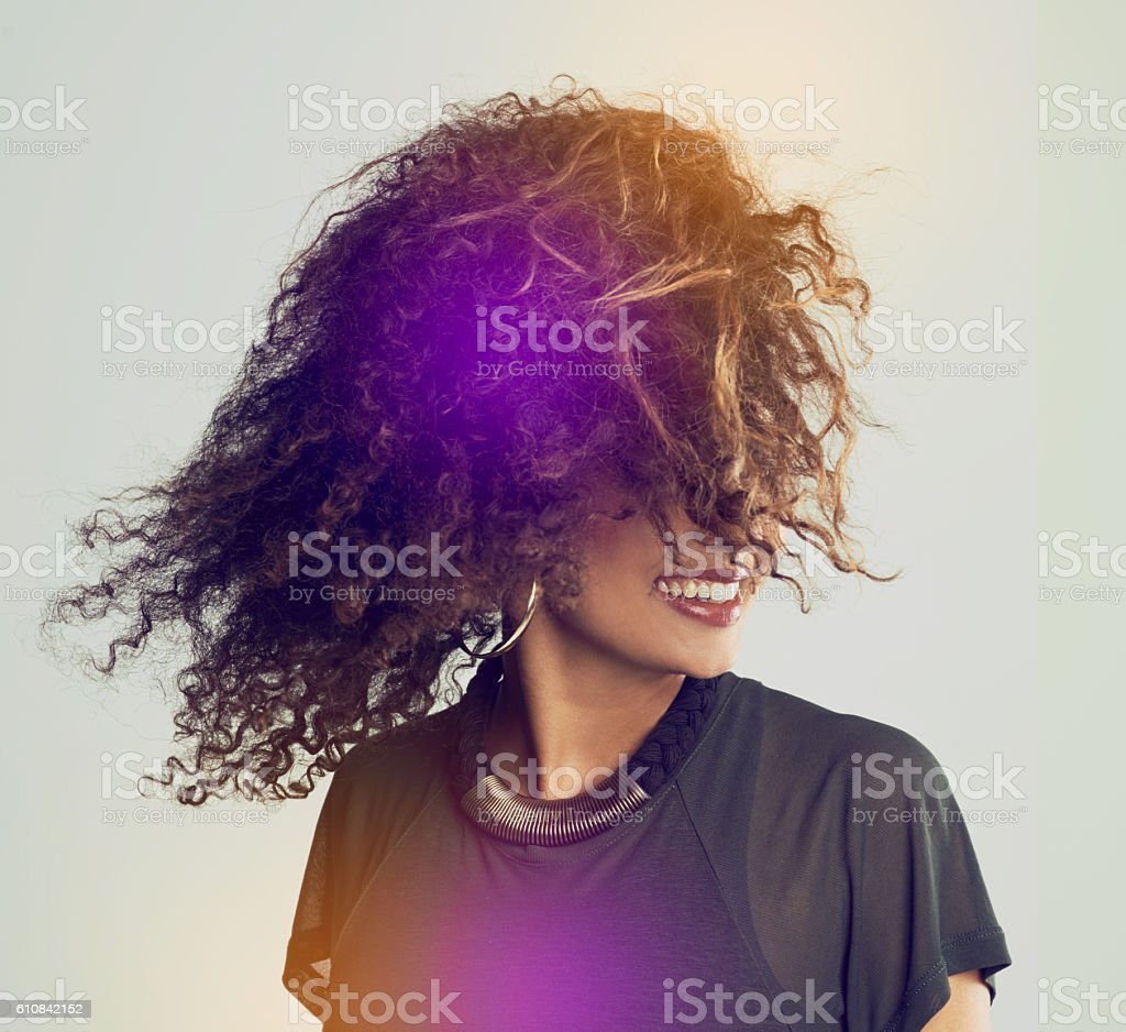 Hair so gorgeous, it's super natural stock photo