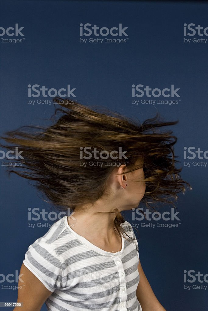 Hair Spin royalty-free stock photo