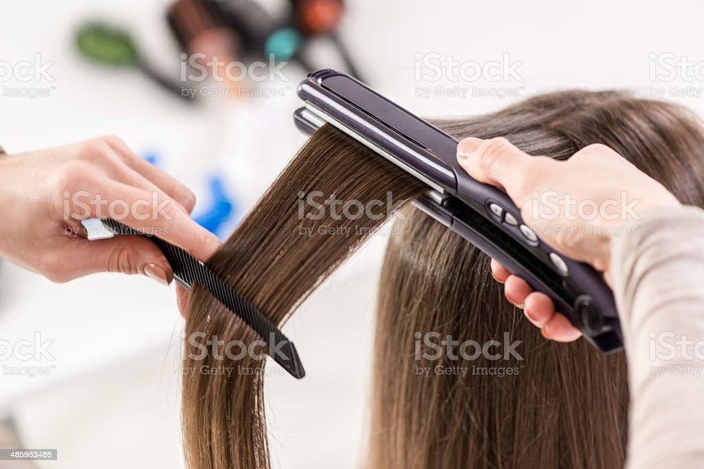 Hair Straighteners stock photo