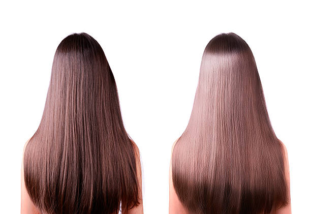 hair straightening before and after - ayarlamak stok fotoğraflar ve resimler
