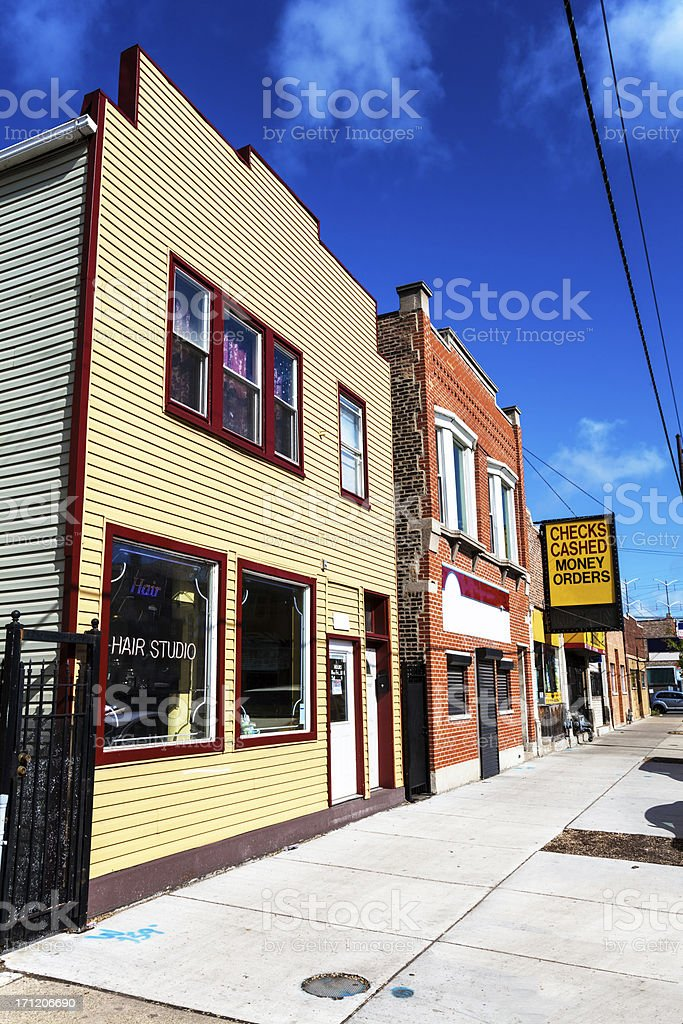 Hair Studio in East Side, Chicago royalty-free stock photo