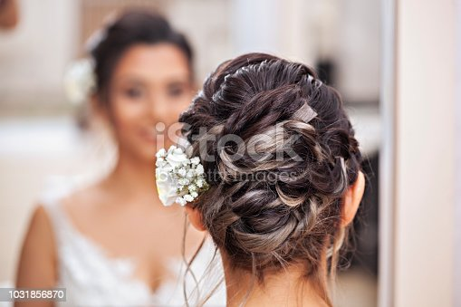 Hair Style of a bride. Ready for the happiest day of her life.