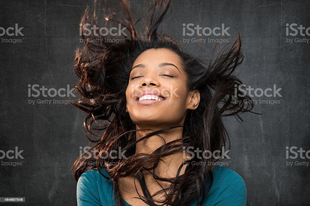Hair style portrait stock photo