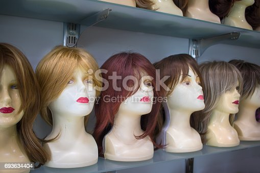 Hair style wigs in shop