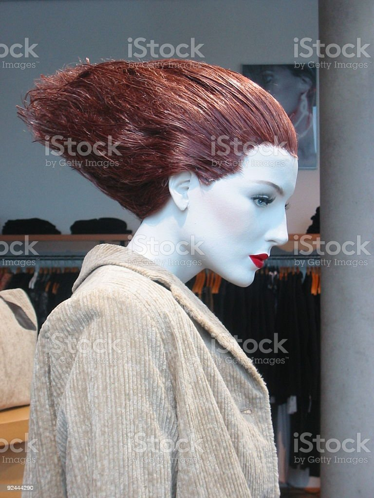 hair styled mannequin royalty-free stock photo