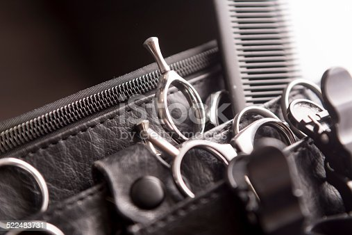 istock Hair Styling and Cutting Toolbelt 522483731