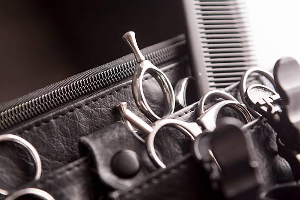 ヘアスタイリングとカティング toolbelt - 美容院 ストックフォトと画像
