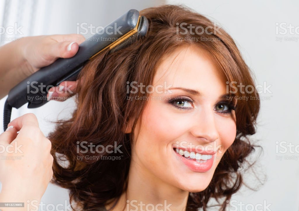 Hair Styling royalty-free stock photo