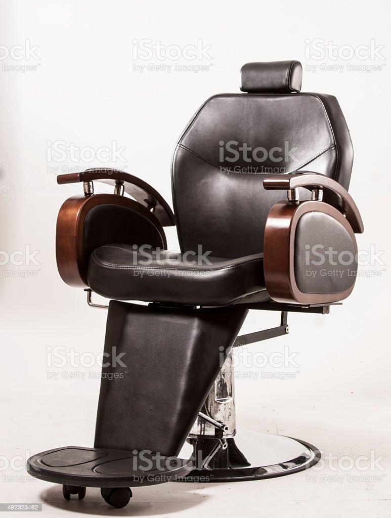 Hair stylist chair stock photo