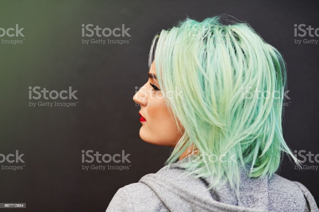 Hair to dye for stock photo