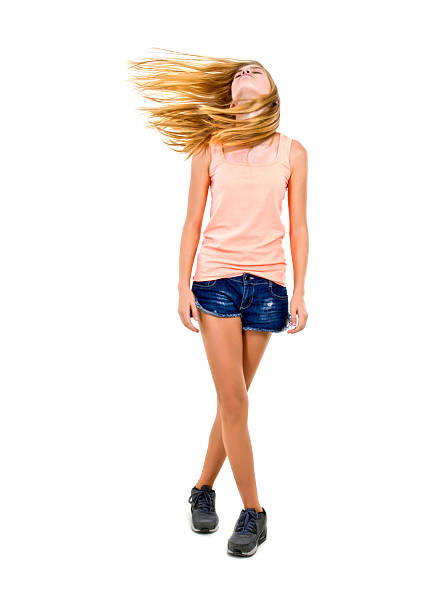 Hair Tossing stock photo