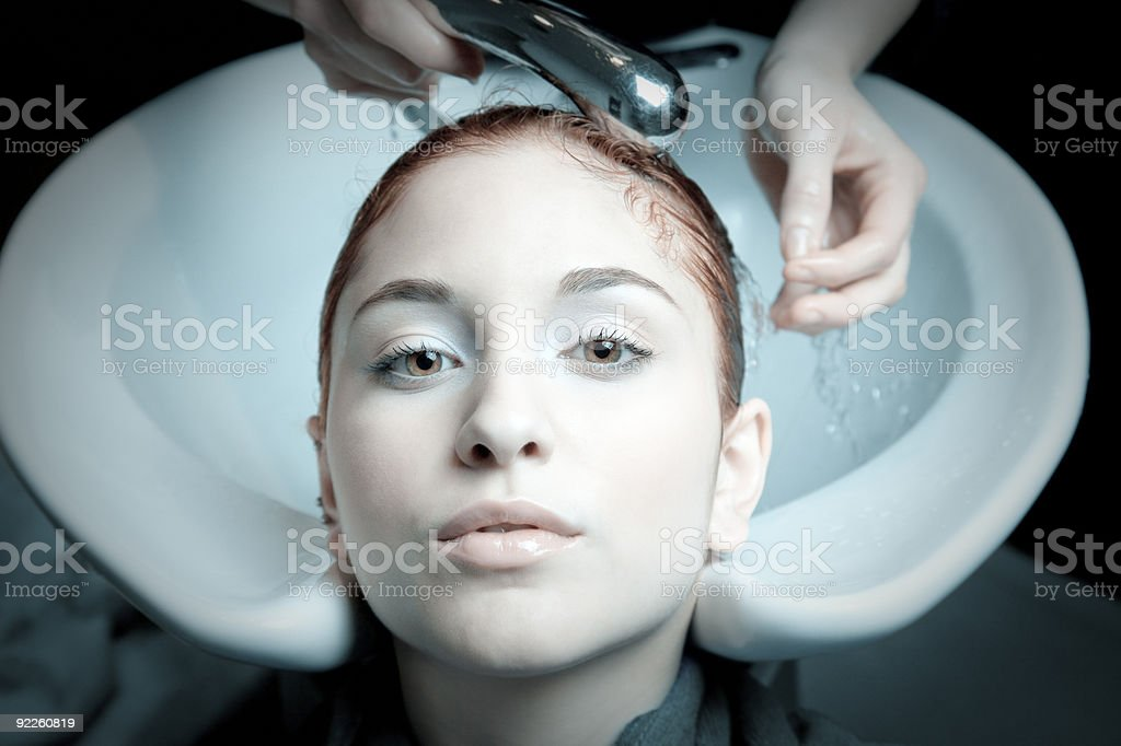 Hair treatment royalty-free stock photo