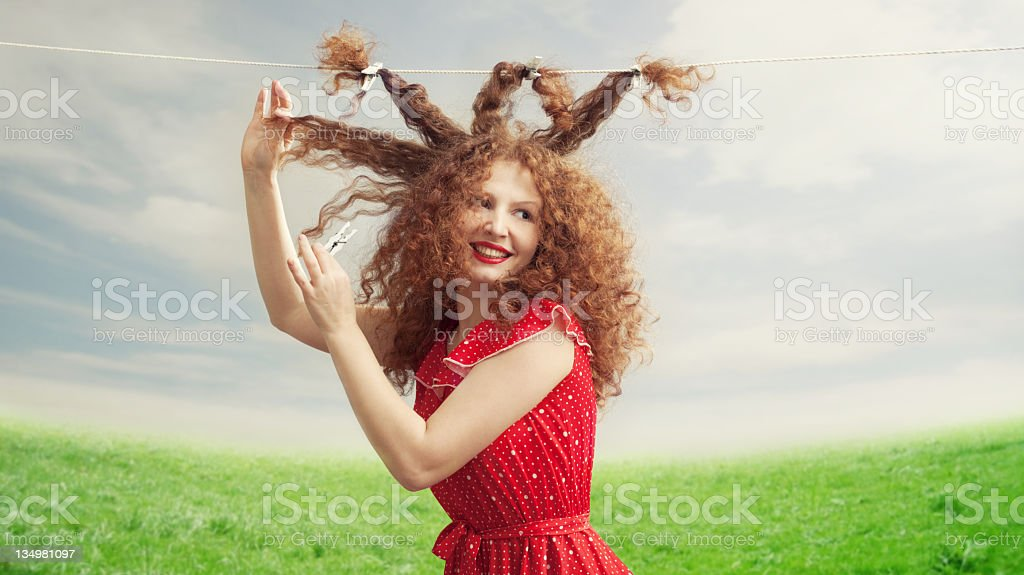 Hair Trouble royalty-free stock photo
