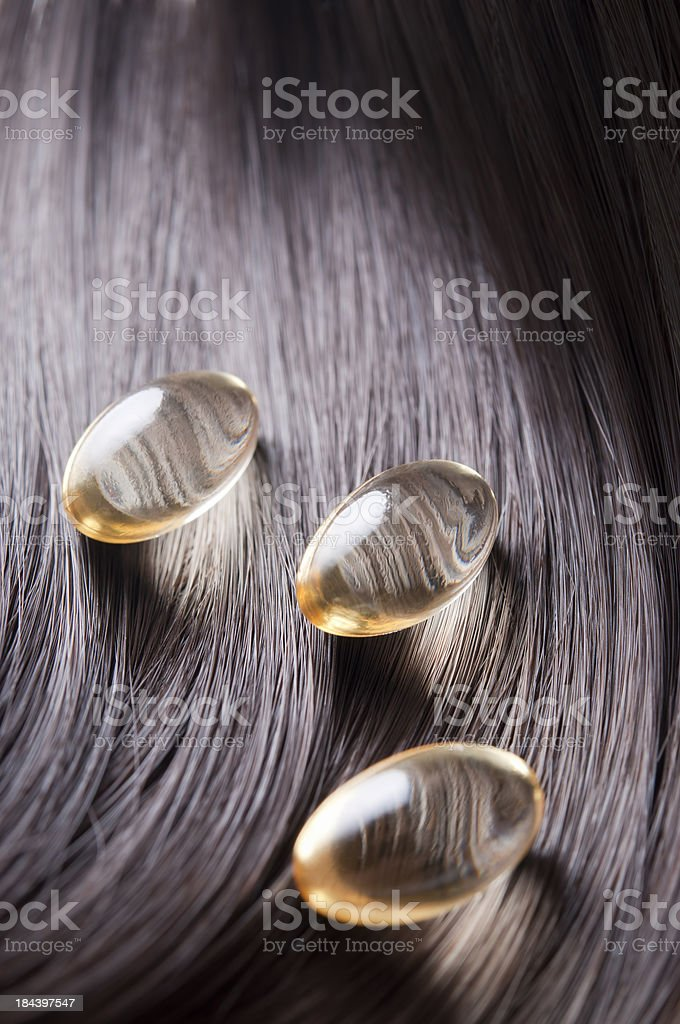 hair vitamins stock photo