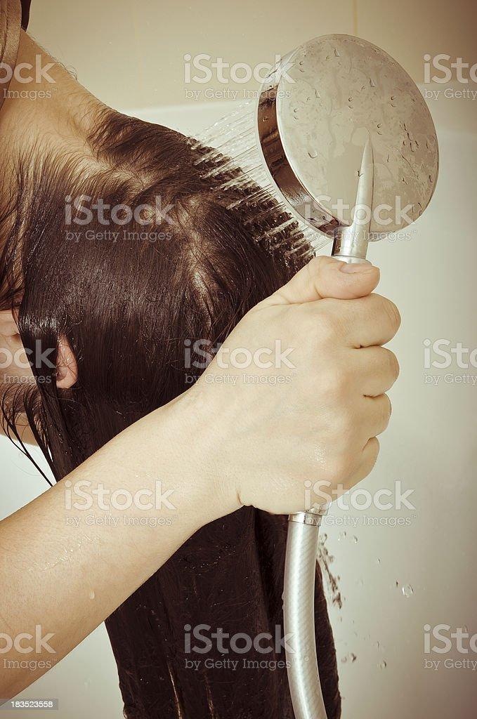 hair wash royalty-free stock photo