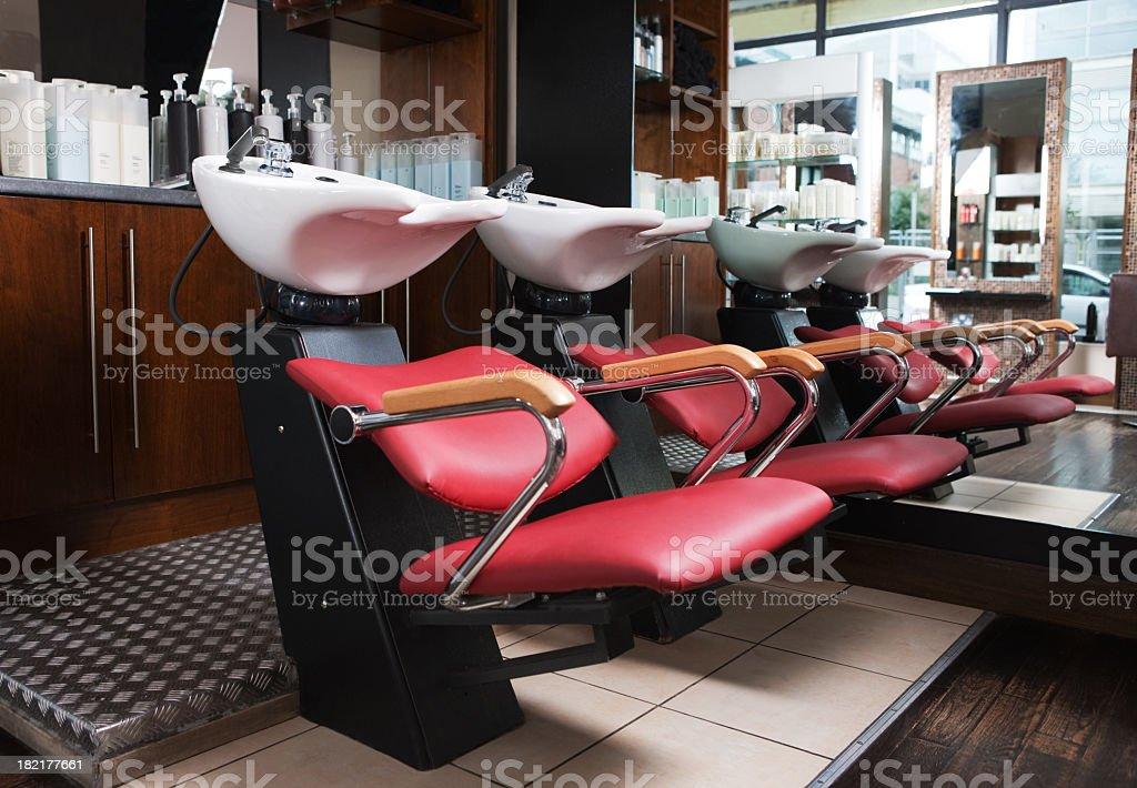 hair washing station royalty-free stock photo