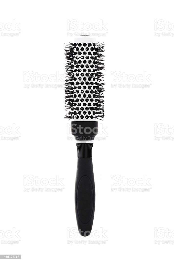 Hairbrush isolated on white royalty-free stock photo