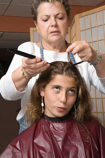 haircut 5 stock photo