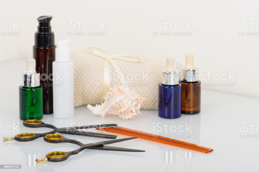 Hair-cutting shears and thinning shears with hair products