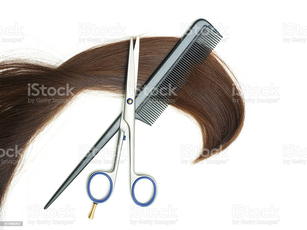 Haircutting tools royalty-free stock photo
