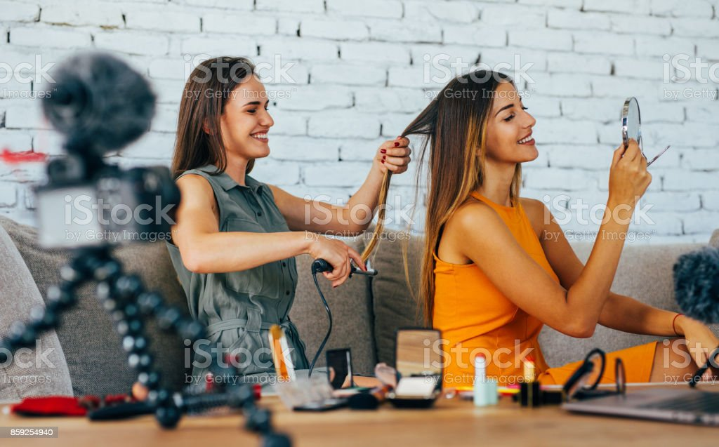 Hairdo vlog stock photo