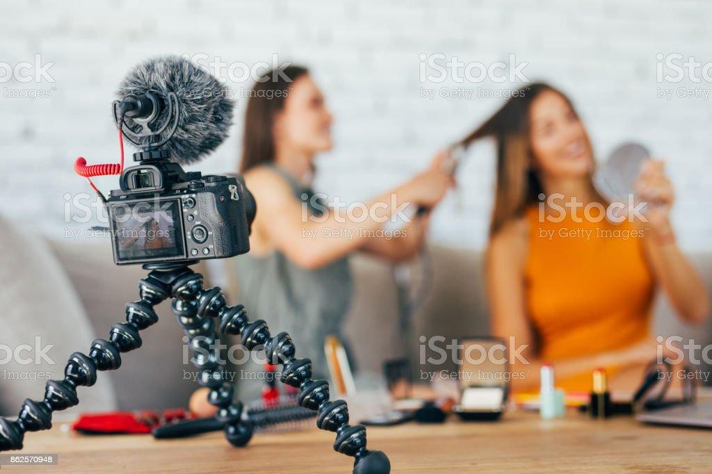 Hairdo vlog stock photo
