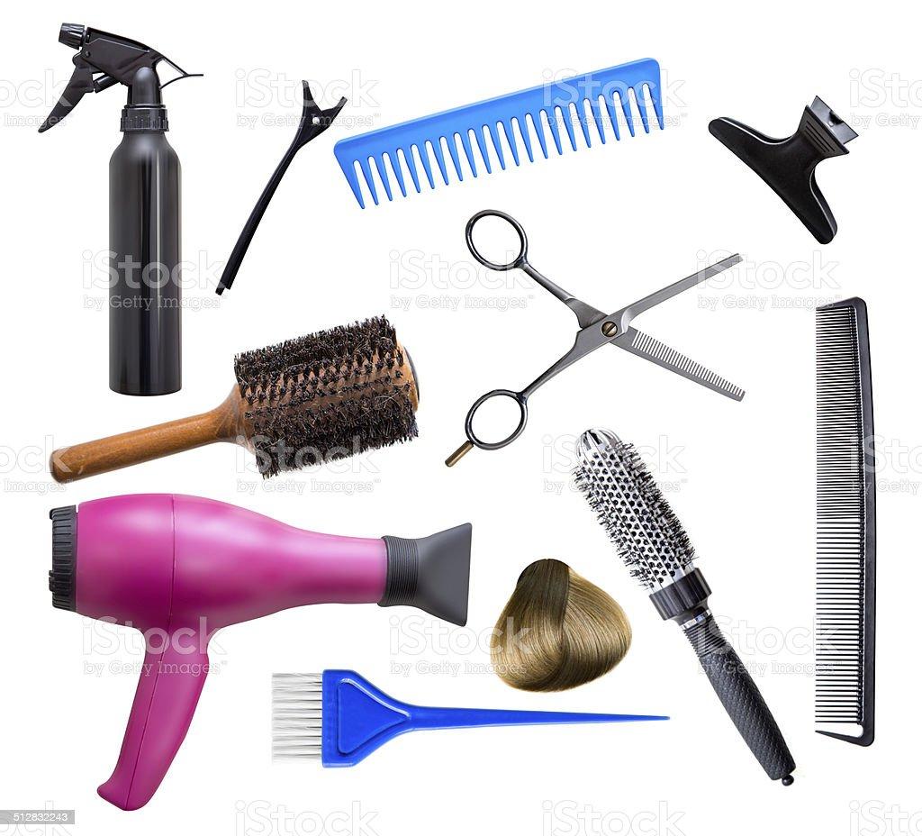 Hairdresser equipment stock photo