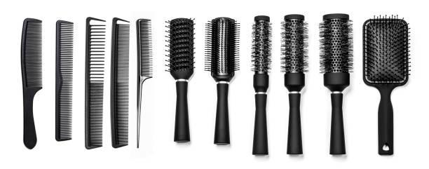 outils de coiffeur - peigne photos et images de collection