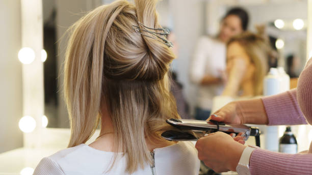 hairdressing services. - parrucchiere foto e immagini stock