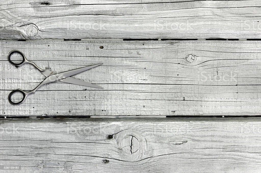 Parrucchiere strumento in color argento-trattati bordo di sopra - foto stock
