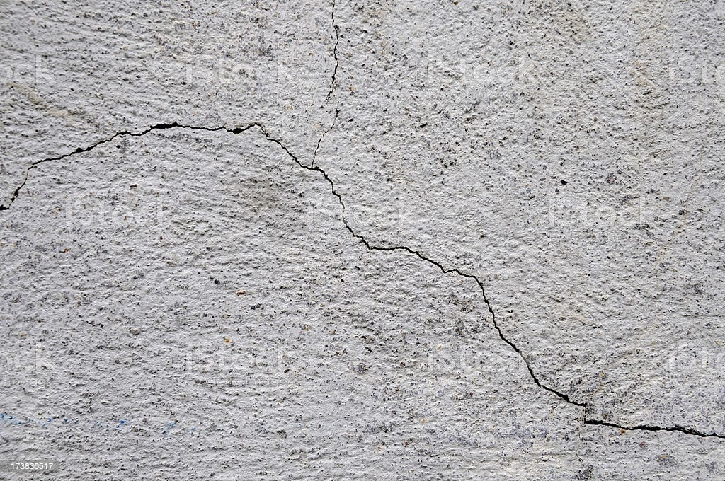 hairline crack in a wall royalty-free stock photo