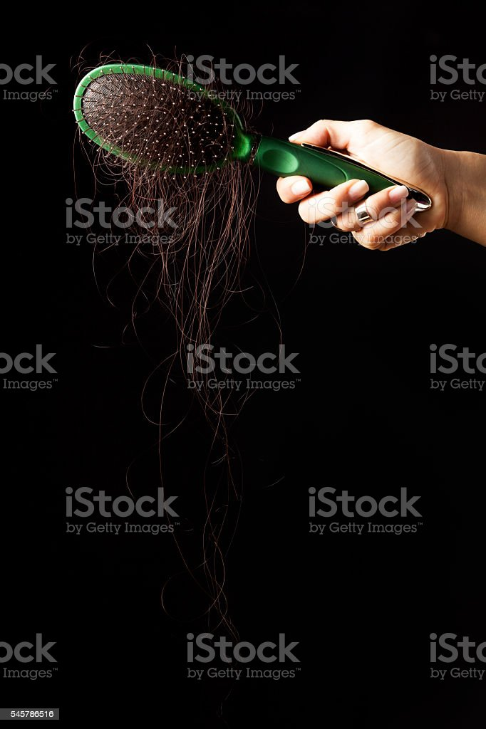 hairloss problem stock photo