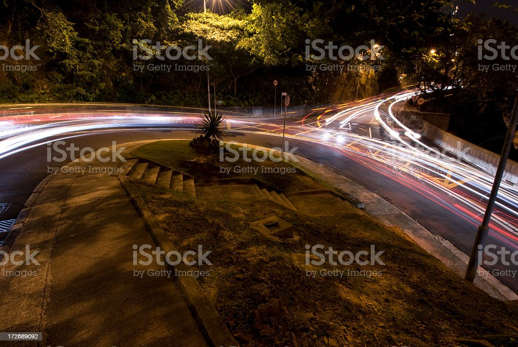 Hairpin Bend at Night royalty-free stock photo