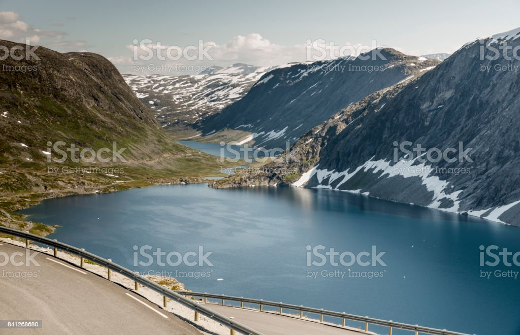 Hairpin curve dalsnibba road 63 panoramaroad norway stock photo