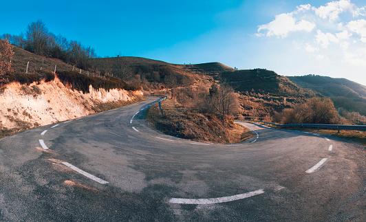Hairpin turn panorama
