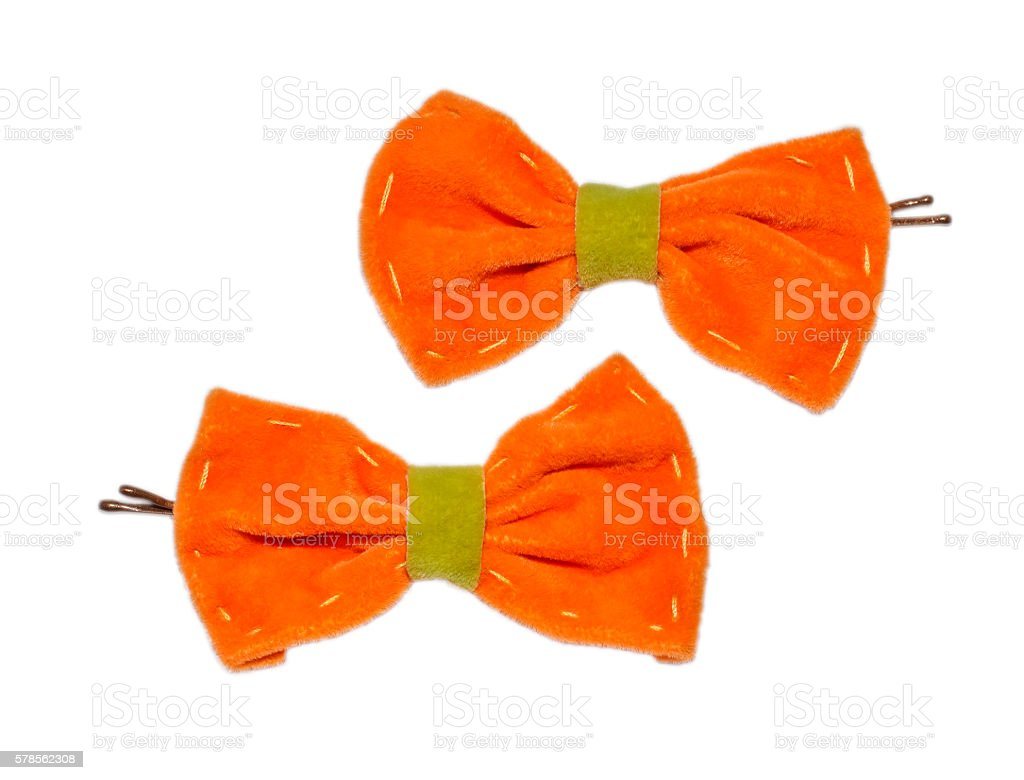 hairpin with bows stock photo