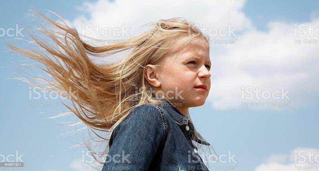 Haaren im wind – Foto